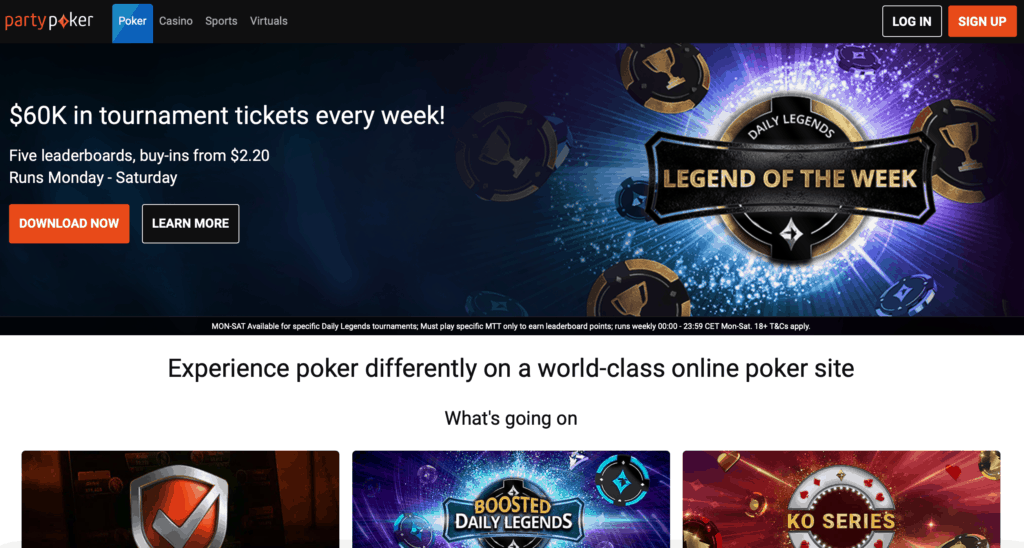 party poker home page